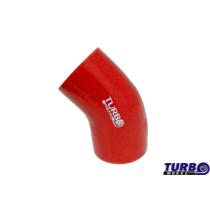 Szilikon szűkítő könyök TurboWorks Piros 45 fok 63-76mm